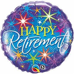 Qualatex Balloons Happy Retirement 45cm