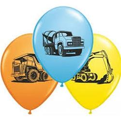 Qualatex Balloons Construction Trucks Asst 28cm