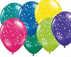 Qualatex Balloons Stars Around J/Tone 12cm