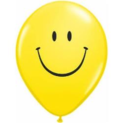 Qualatex Balloons Smile Face Yellow 12cm