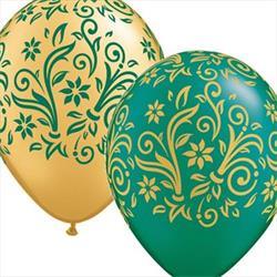 Qualatex Balloons Damask Ponsietta A Round 28cm