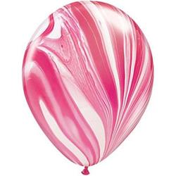 Qualatex Balloons Red and White Super Agate 28cm