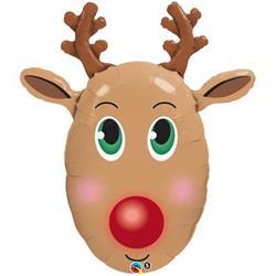 Red Nosed Reindeer Shape 99cm