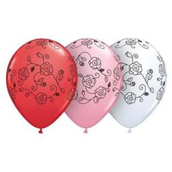 Qualatex Balloons Sweetheart Asst Bloomin Flowers 28cm.