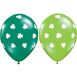 Qualatex Balloons Big Shamrocks Asst 28cm