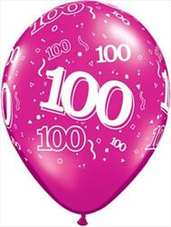 Qualatex Balloons 100 Around J/Tone Asst 28cm