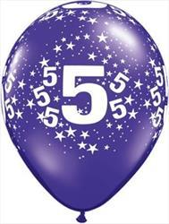 Qualatex Balloons 5 Around J/Tone Asst 28cm