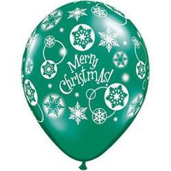 Qualatex Balloons Christmas Snowflakes 28cm