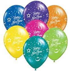 Qualatex Balloons New Year Party J Tone Asst 28cm