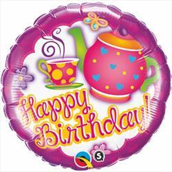 Qualatex Balloons Birthday Teatime 45cm