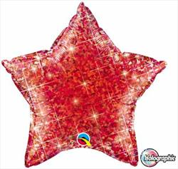 Star Holographic 50.8cm Jewel Red