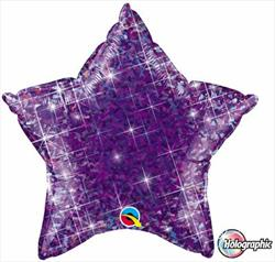 Star Holographic 50.8cm Jewel Purple