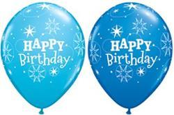 Qualatex Balloons Birthday Sparkle Blue Asst 28cm