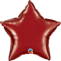 Star Foil Burgundy 50cm Unpackaged