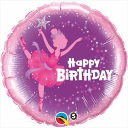 Qualatex Balloons Birthday Ballerina 45cm