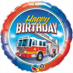 Qualatex Balloons Birthday Fire Truck 45cm
