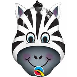 Zany Zebra Mini Shape 14""