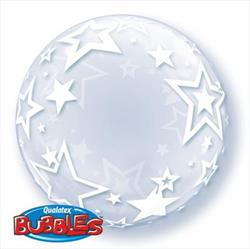 Deco Bubble Stylish Stars 60cm -24""