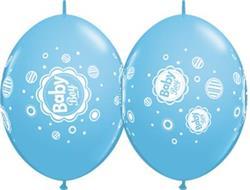 Quicklink Balloons Pale Blue Baby Boy Dots 30cm Qualatex