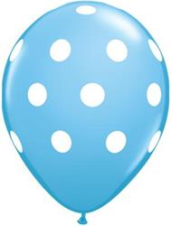 Qualatex Balloons Big Polka Dots Pale blue 28 cm