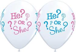 Qualatex Balloons He or She 28 cm