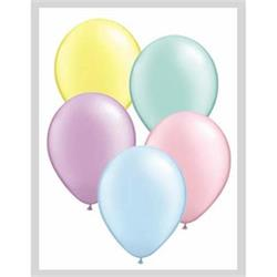 Qualatex Balloons Pastel Pearl Asst 12cm