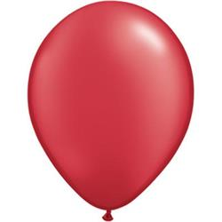 Qualatex Balloons Pearl Ruby Red 12cm