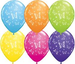 Qualatex Balloons Butterflies Around Tropical Asst 28cm