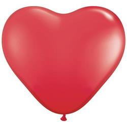 Qualatex Balloons Hearts Red 28cm