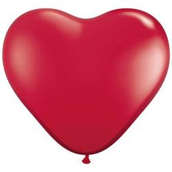 Qualatex Balloons Hearts Jewel Ruby Red 28cm 100ct