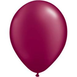 Qualatex Balloons Pearl Burgundy 28cm use 25c