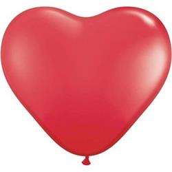 Qualatex Balloons Hearts Red Latex 90cm