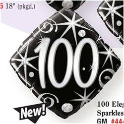 Qualatex 100 Elegant sparkles and swirls  45cm