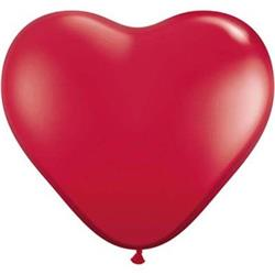 Qualatex Balloons Hearts Ruby Red Latex 90cm