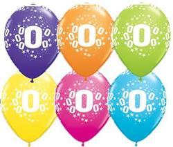 Qualatex Balloons 0 Stars Around Tropical Asst. 28cm