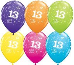 Qualatex Balloons 13 Around Tropical Asst. 28cm