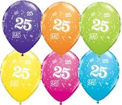 Qualatex Balloons 25 Around Tropical Asst. 28cm