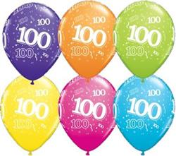 Qualatex Balloons 100 Around Tropical Asst. 28cm