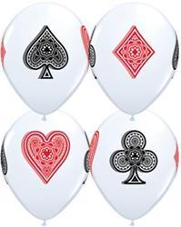 Qualatex Balloons White Card Suites 28cm.