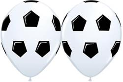 Qualatex Balloons White Soccer Ball 28 cm