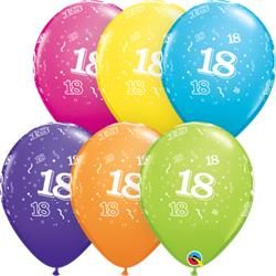 Qualatex Balloons 18 Around Tropical Assorted 28cm