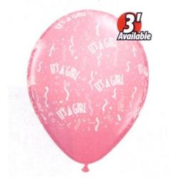 Qualatex Balloons It's a Girl Pink 12cm