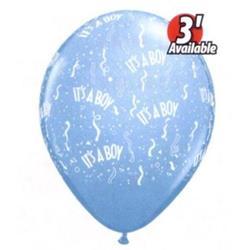 Qualatex Balloons It's a Boy Blue 12cm