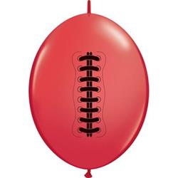 Quicklink Balloons Football Red 30cm Qualatex