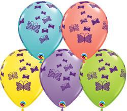 Qualatex Balloons Butterflies Rising Sorbet Asst 28cm