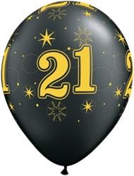 Qualatex Balloons 21 Pearl Onyx Black Sparkle A-round 28cm 25cnt