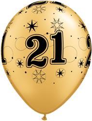 Qualatex Balloons 21 Gold Sparkle A-round 28cm 25cnt