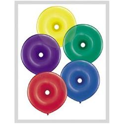Donuts Radiant Jewel Assorted 40cm Qualatex Balloons  50ct