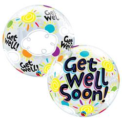 Get Well Soon Sunny Day Bubble 55cm