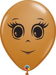 Womans Face Mocha Brown 12cm